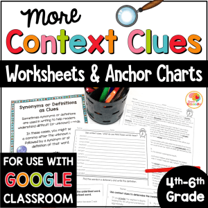Context Clues Worksheets for 4th-6th Grade COVER