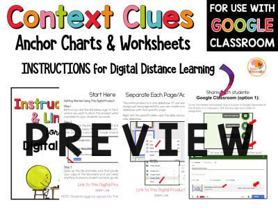 Context Clues Worksheets for 4th-6th Grade PREVIEW