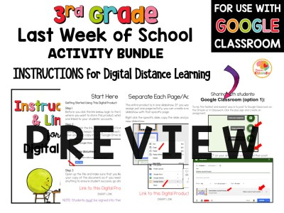 Last Week of School Activities for 3rd Grade PREVIEW