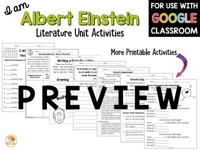 albert-einstein-literature-unit