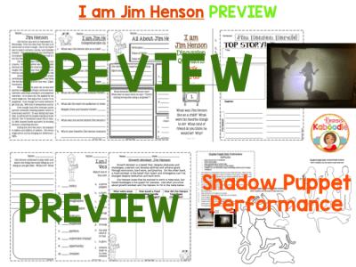 I am Jim Henson by Brad Meltzer Literature Activities