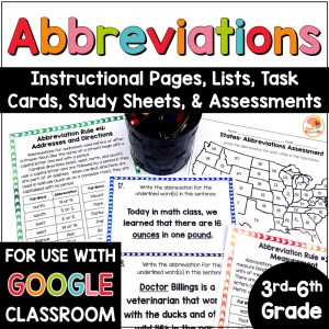 Abbreviations Activities for Distance Learning COVER