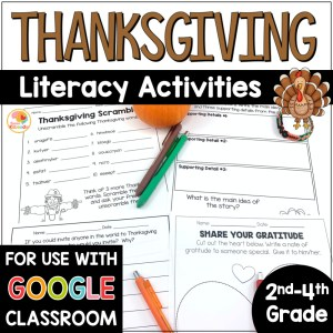 Thanksgiving Literacy Activities COVER