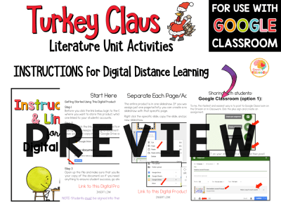 Turkey Claus Activities for Kids PREVIEWS