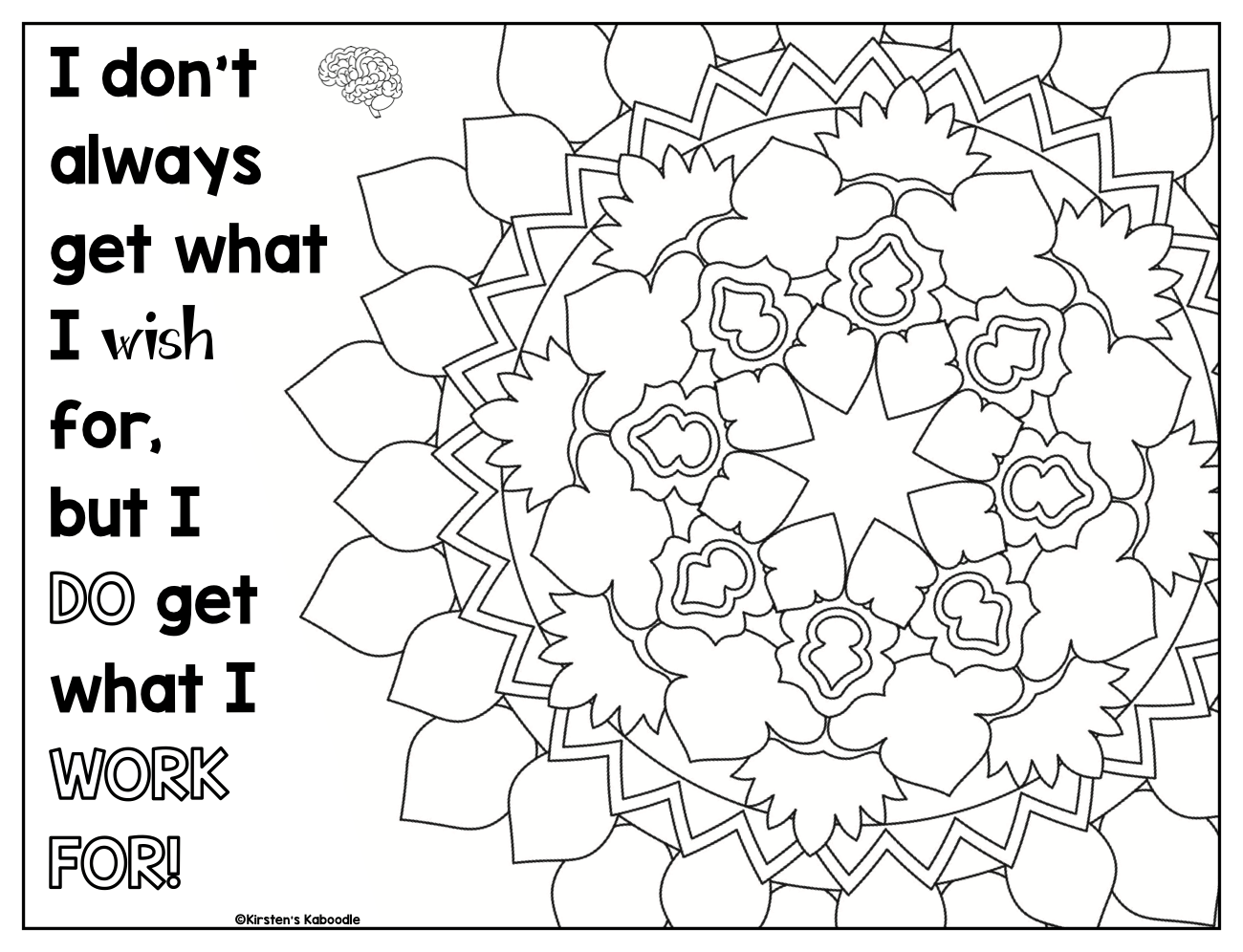 Growth Mindset Coloring Pages – Affirmations for Upper Grades