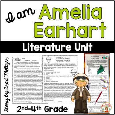 I am Amelia Earhart by Brad Meltzer Literature Activities