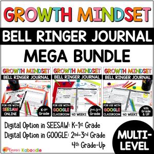 Growth Mindset Bell Ringer MEGA BUNDLE COVER