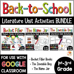 Back to School Literature Unit BUNDLE COVER