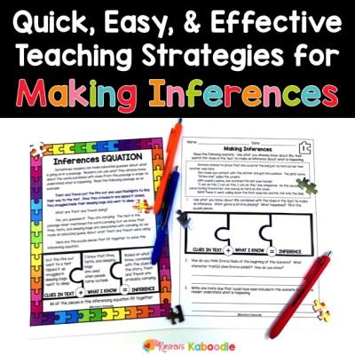 Making Inferences Worksheet Types & More