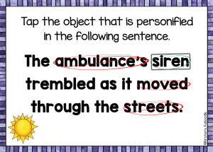 personification-sentence-example