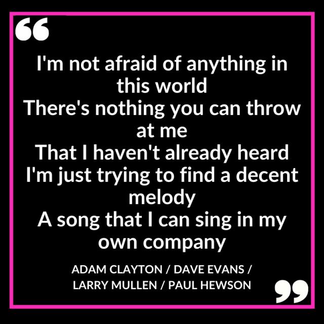 Stuck in a Moment Song Lyrics, U2, written by Adam Clayton, Dave Evans, Larry Mullen and Paul Hewson