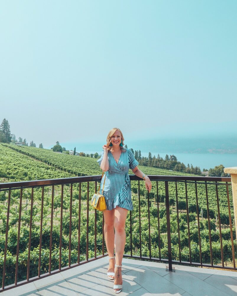 Looking for the most beautiful Instagrammable places in Kelowna? Check out this guide to find the best photography spots in Kelowna! Pictured here: Gray Monk Estate Winery
