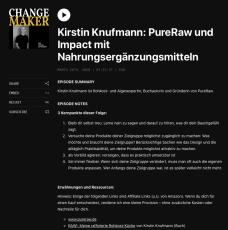 Kirstin Knufmann: PureRaw und Impact mit Nahrungsergänzungsmitteln