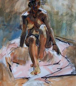 Seated Figure Kirstin White SOLD 101b9283b