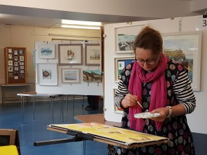 Kirstin White demonstrating at Titchfield Art & Craft Show 2018