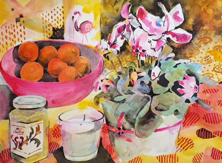 Citrus and Cyclamen - Kirstin White