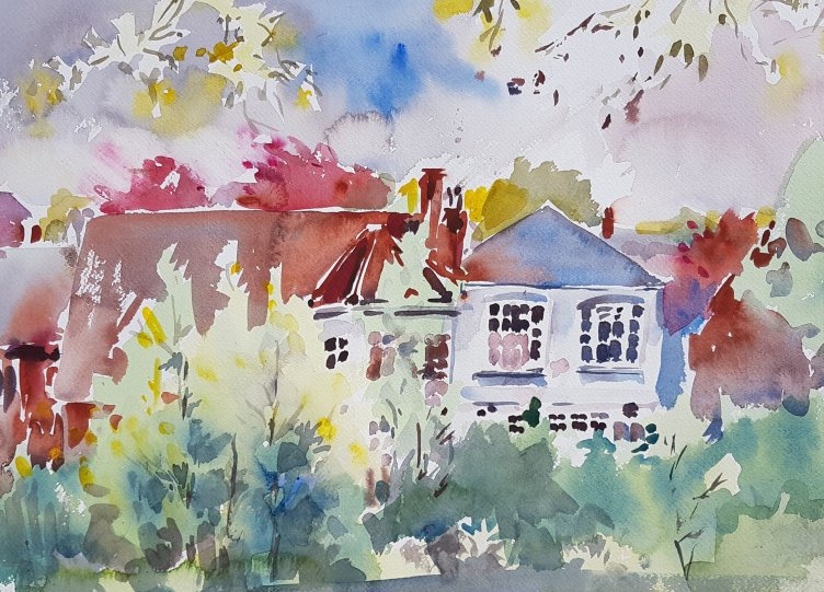 Learn to paint and draw with Kirstin White. Watercolour outside!