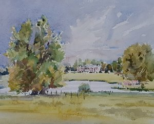 Avington Park Watercolour
