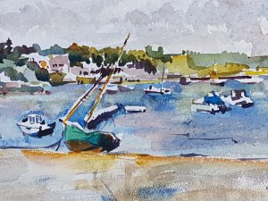 Sandbanks in Poole Watercolour