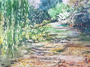 The Itchen at Twyford Watercolour