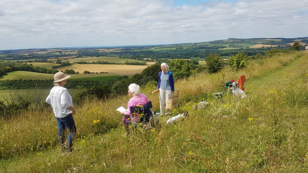 Artists meeting at Old Winchester Hill