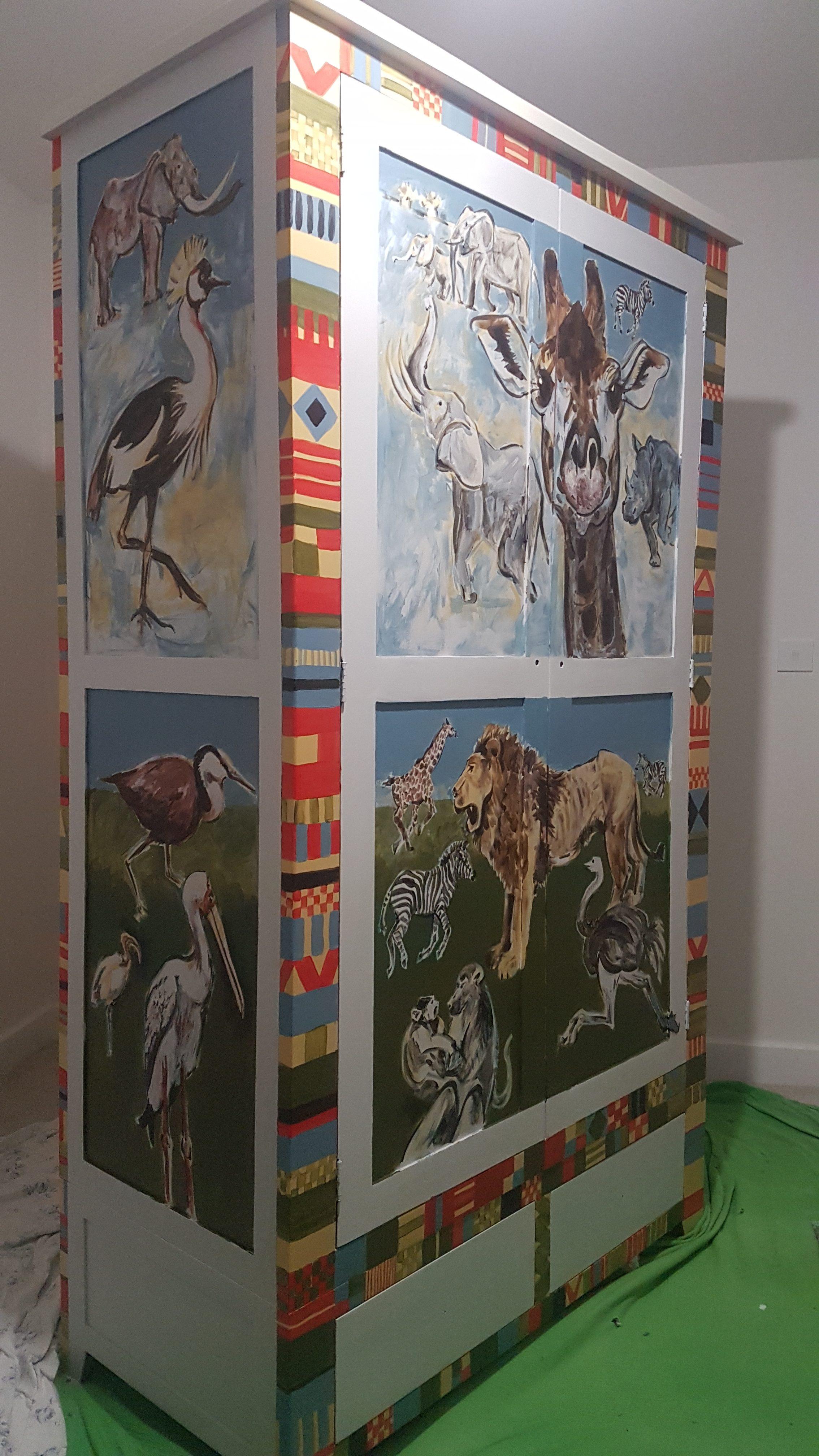 On safari, in the nursery wardrobe!