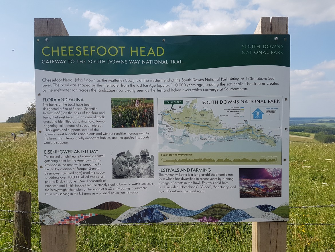 signage for Cheesefoot Head