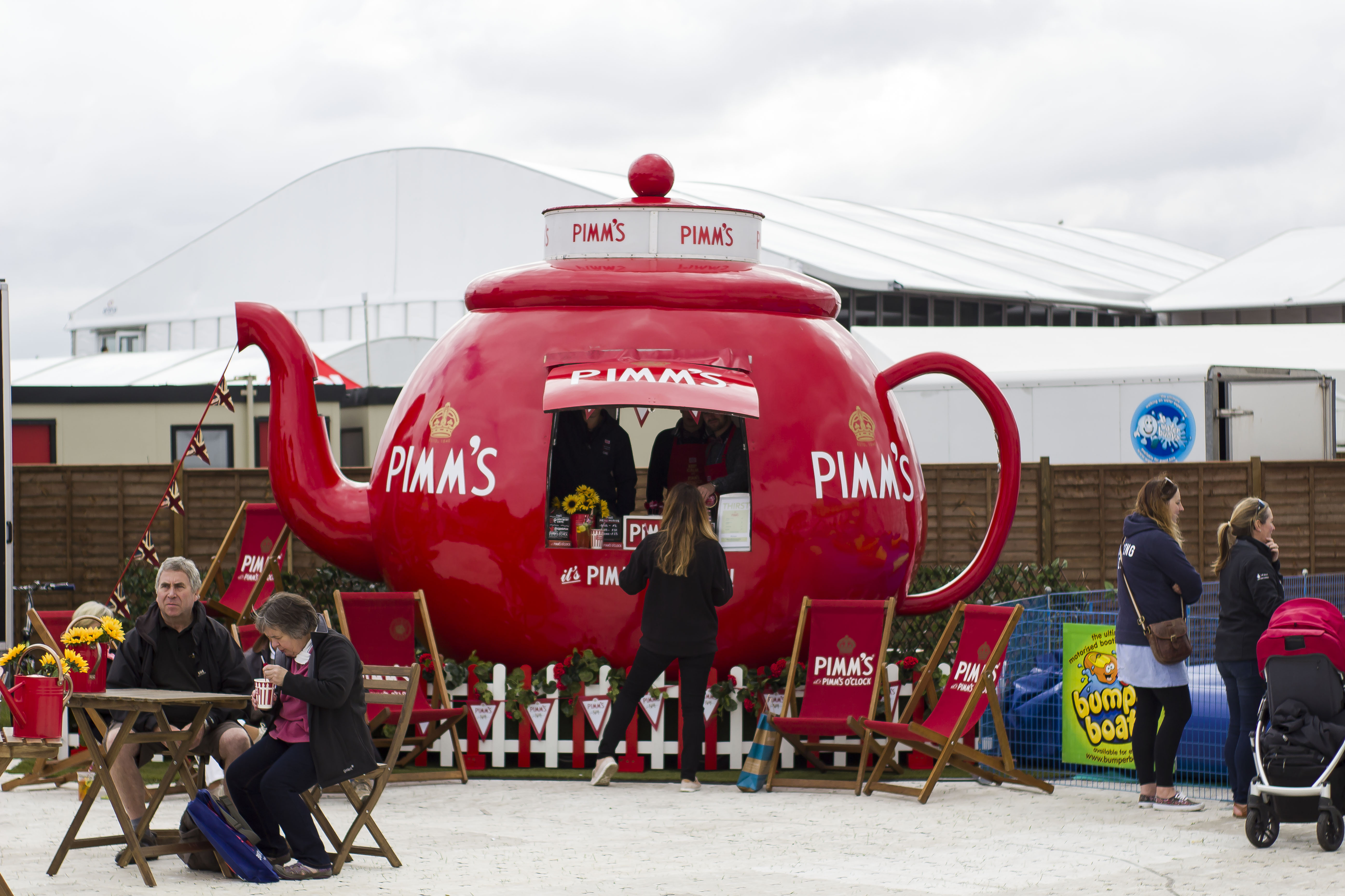 Pimms stand at soton boat show