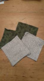 Coasters - reclaimed sweaters, felted