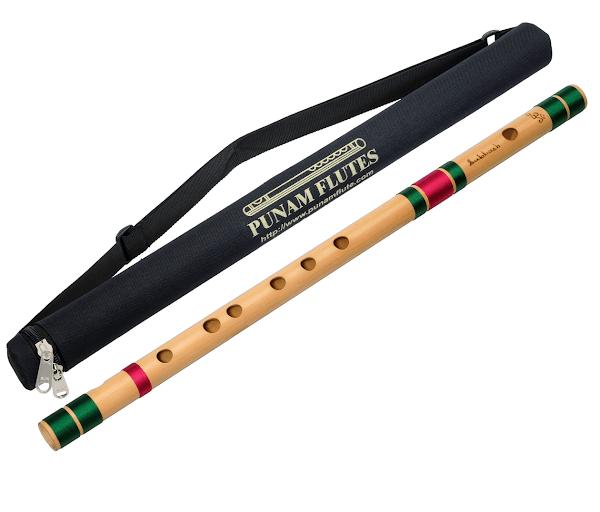 Профессиональная Флейта Бансури под правую руку | C#(до-диез) 46см