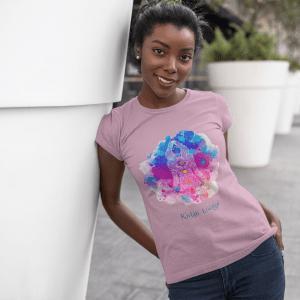 Women's T-shirt with Lotus Yoga Pose