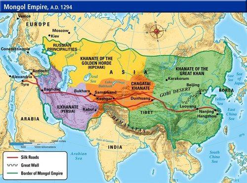 Pembagian Wilayah Kekuasaan Mongol
