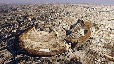Kota Aleppo setelah terjadi peperangan