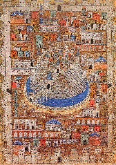 Lukisan Kota Aleppo di Masa Turki Utsmani