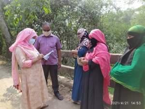 হোসেনপুরে লকডাউনে ঈদ শপিং করতে এসে ৪ নারীর অর্থদন্ড