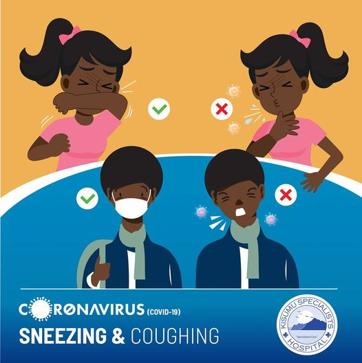Sneezing and Coughing infographic