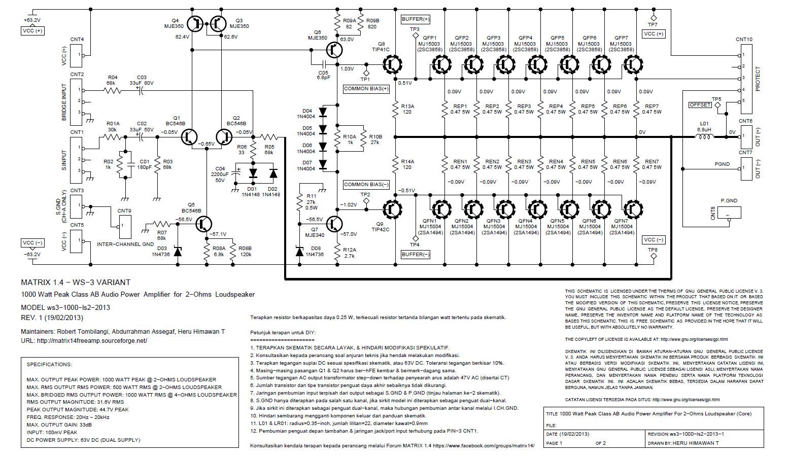 Matrix 1 4 Wiro Sablenk 3 W For 2 Ohm Speaker