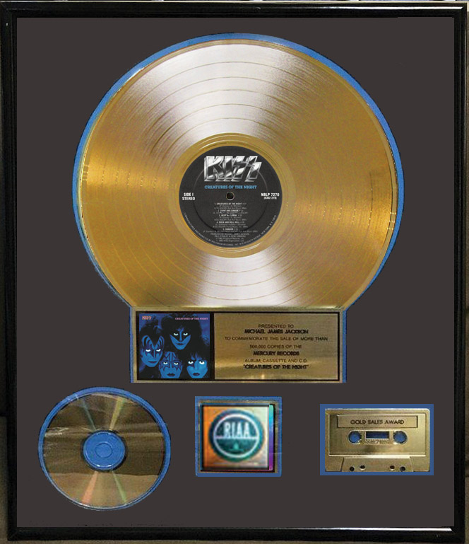 Michael James Jackson Autographed Riaa Certified Creatures Of The