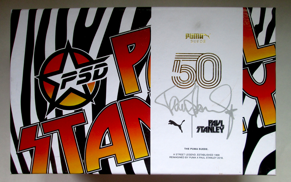 save off 43bfa bad67 Paul Stanley Autographed Box Puma Breakers Sneakers