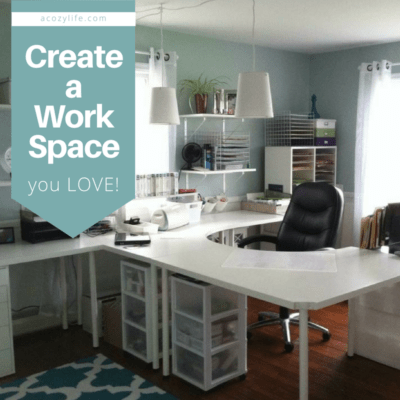 "From ""formal"" living room to craft room! Create a workspace you LOVE!"