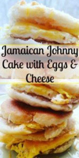 Jamaican Johnny Cake with Eggs & Cheese