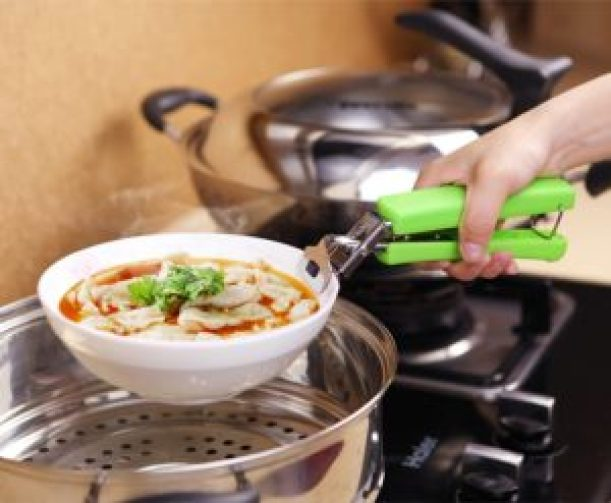 Bowl Pot Pan Gripper Clip Hot Dish Plate