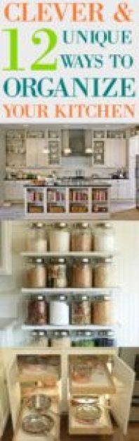 Clever Ways yo Organize Your Kitchen