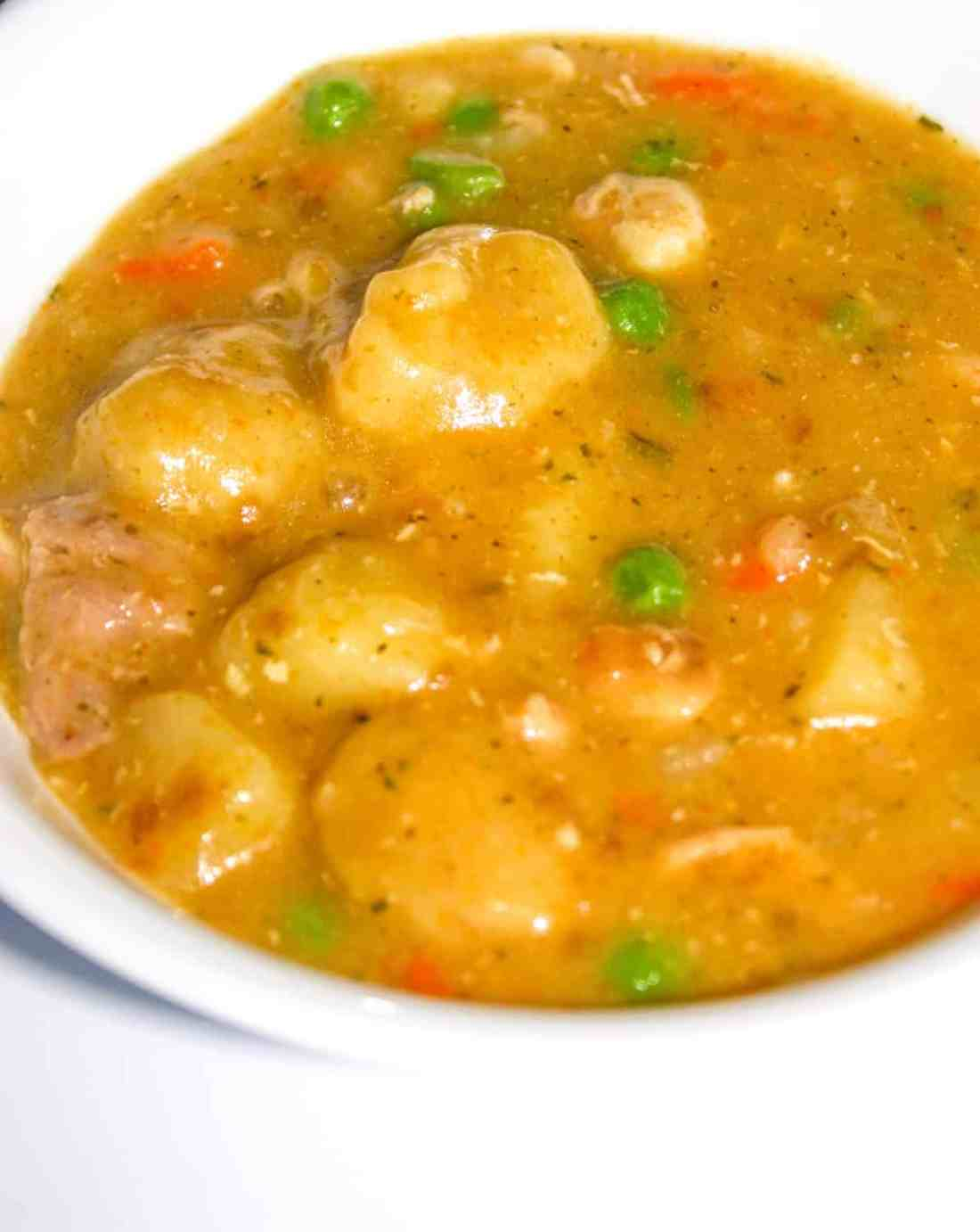 Nothing says comfort food like Chicken and Dumplings! The gluten free dumplings can be made with Bisquick if you have it on hand or from scratch if you do not have Bisquick in the house.