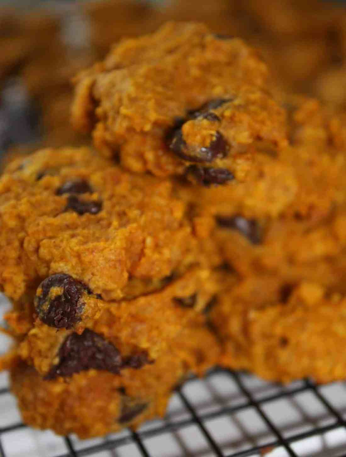 As fall rains turn to snow I am just about done with pumpkin recipes. These Pumpkin Cookies include the flavours of fall without overdoing the sweetness.