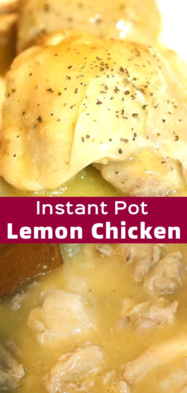 Instant Pot Lemon Chicken is an easy gluten free dinner recipe. These Instant Pot chicken thighs are smothered in a tangy lemon sauce.