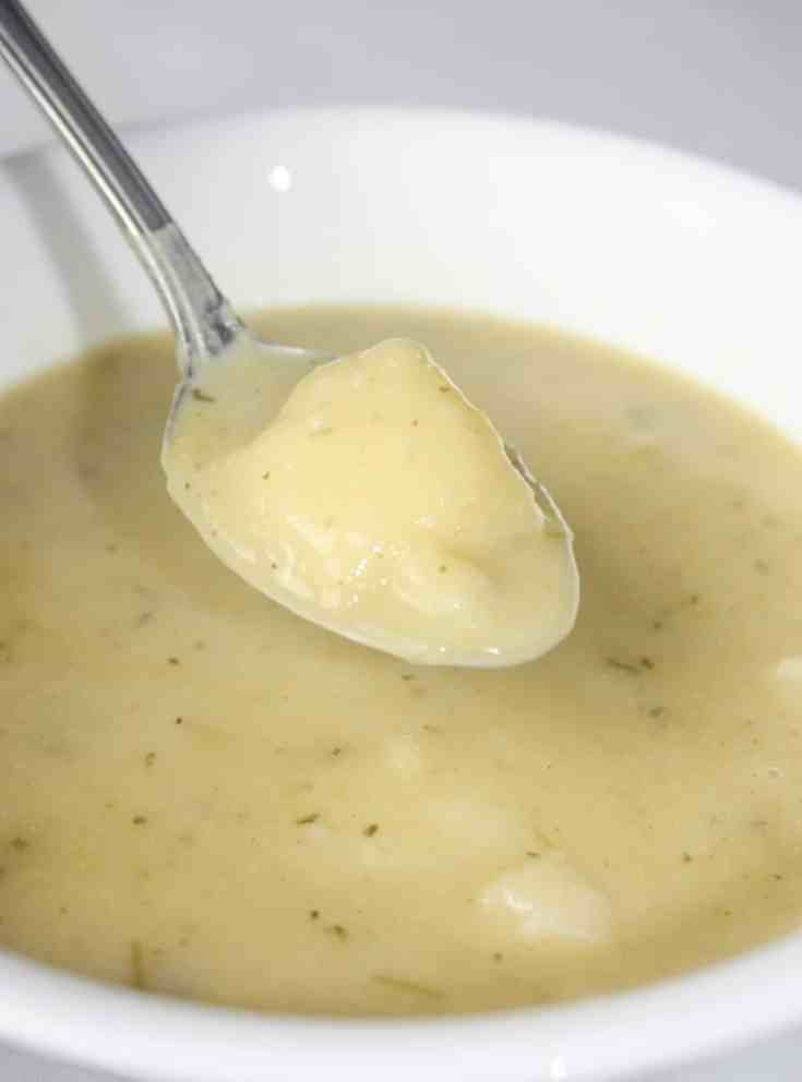 If you choose you can stir in some bacon bits to boost the flavour of this traditional soup.