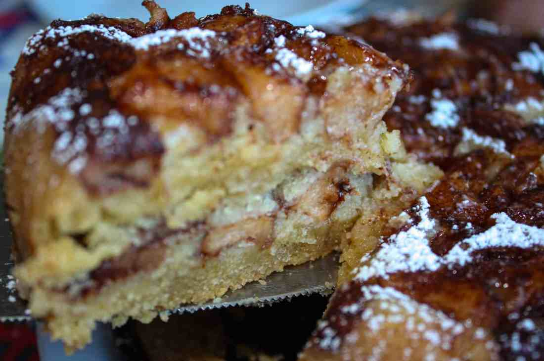 This Instant Pot Apple Cake is quick to prepare and has the texture of coffee cake.