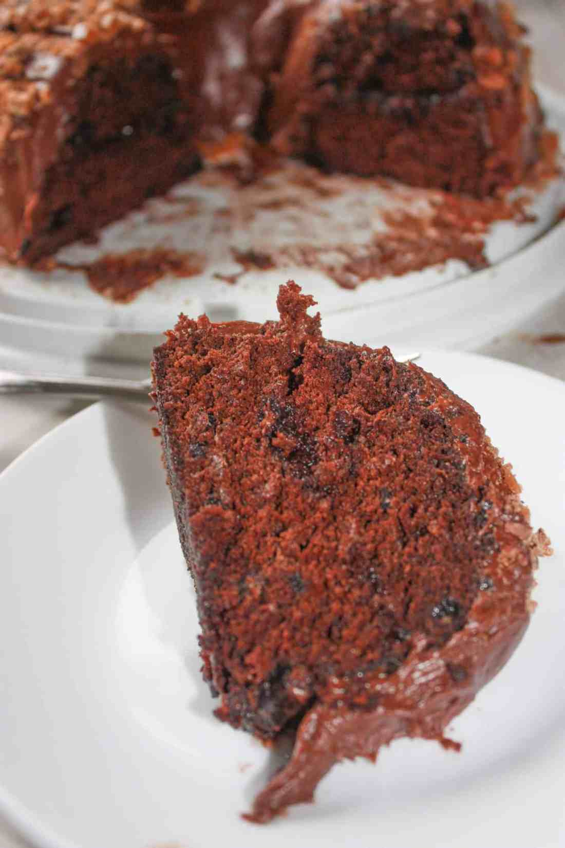 Microwave Chocolate Bundt Cake is a very easy dessert recipe.  It's light and fluffy texture will have you surprised that it is gluten free!