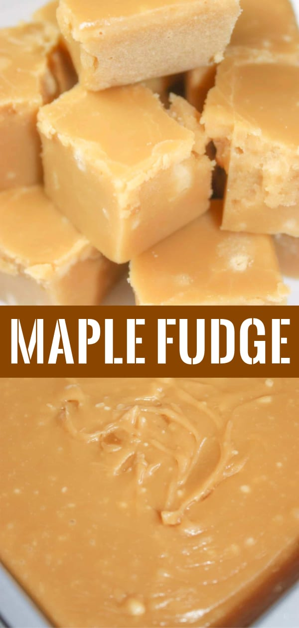 Maple Fudge is a rich and creamy dessert recipe. This easy stove top fudge is made with brown sugar.